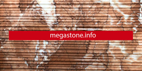 Red alcantine marble with scratches